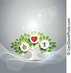 egészséges élénk, jelkép