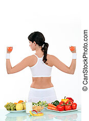 egészséges élénk, nő, életmód
