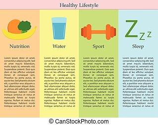 egészséges életmód, infographics