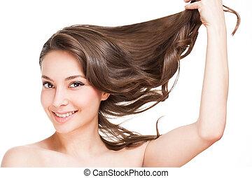 egészséges, erős, hair.