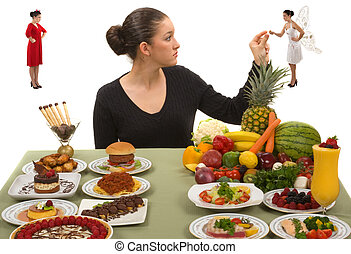 egészséges eszik