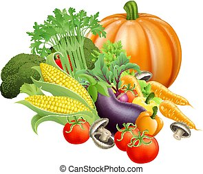 egészséges, friss növényi, létrehoz