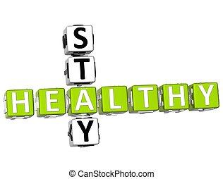 egészséges, keresztrejtvény, 3, megállít