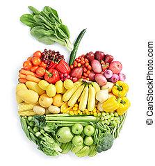egészséges táplálék, apple: