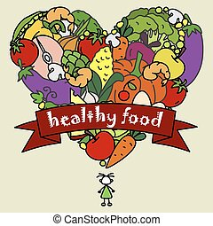 egészséges táplálék, karcsú, ember