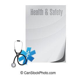 egészséges, tervezés, orvosi, biztonság, ábra