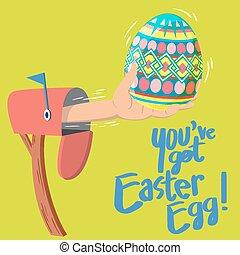 egg!, kapott, ön, húsvét, bír