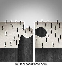 együttműködés, ügy emberek