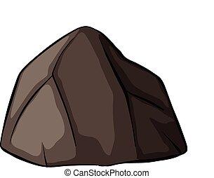 egy, szürke, kő