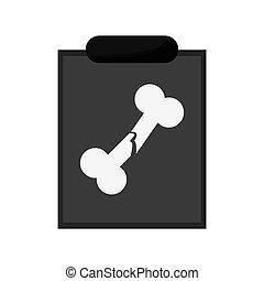 egyedülálló, röntgen, ikon