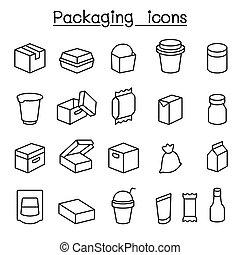 egyenes, csomag, mód, állhatatos, híg, ikon