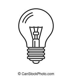 egyenes, gumó, vektor, mód, fény, icon., elektromos