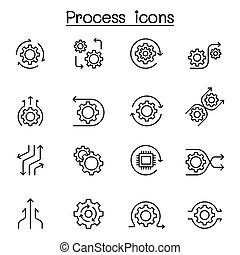 egyenes, mód, állhatatos, eljárás, híg, ikon
