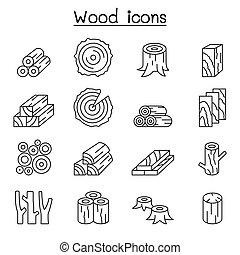 egyenes, mód, állhatatos, erdő, híg, ikon