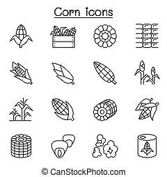 egyenes, mód, állhatatos, gabonaszem, híg, ikon