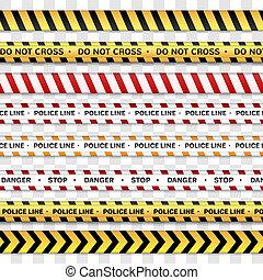egyenes, rendőrség, figyelmeztet, nem, lines., kereszt