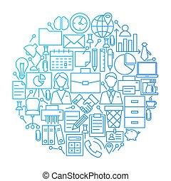 egyenes, tervezés, karika, ügy, ikon