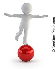 egyensúly, -, emberek, kicsi, 3