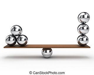 egyensúly, labda