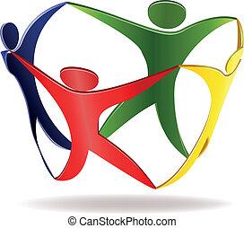 egyesítés, jelkép