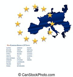 egyesítés, map., európai