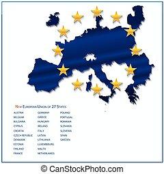 egyesítés, térkép, európai