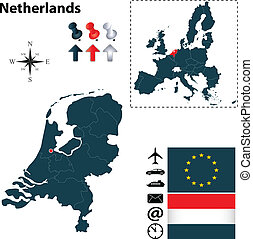 egyesítés, térkép, németalföld, európai