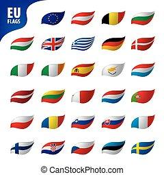 egyesítés, zászlók, európai