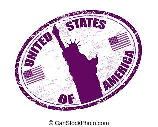 egyesült államok, bélyeg, egyesült, amerika