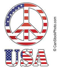 egyesült államok, egyesült, béke cégtábla