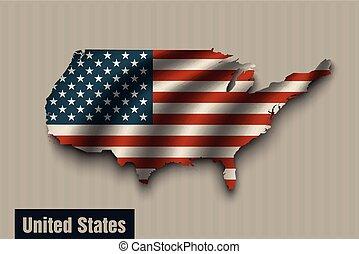 egyesült államok, egyesült, háttér, lobogó, szüret