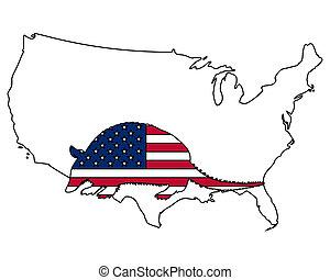 egyesült államok, egyesült, tatu, amerika