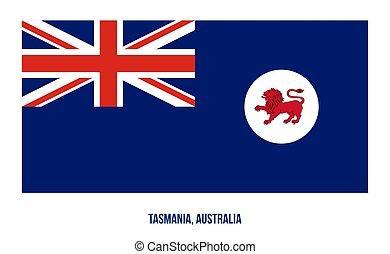 egyesült államok, fehér, australia., háttér., tasmania, ábra, (tas), vektor, lobogó