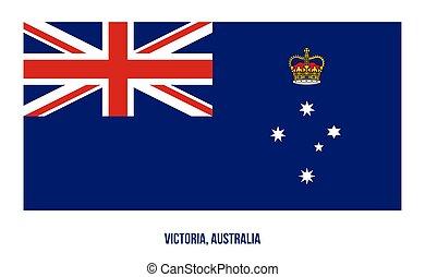 egyesült államok, fehér, háttér., australia., (vic), ábra, victoria, vektor, lobogó