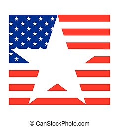 egyesült államok, háttér, lobogó, fehér, egyesült