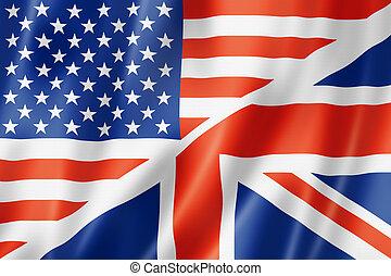 egyesült államok, lobogó, egyesült, brit