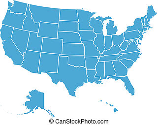 egyesült államok, térkép, egyesült, vektor