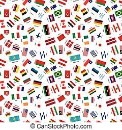 egyesült államok, világ, zászlók, független