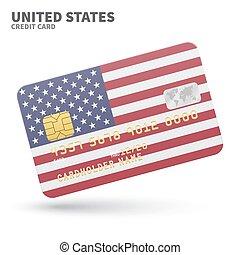 egyesült, ügy, part, bemutatások, egyesült államok, hitel, lobogó, háttér, kártya