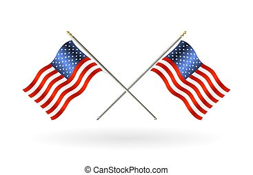egyesült, kereszt, egyesült államok, lobogó, háttér, fehér, amerika