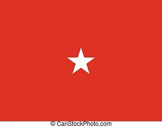 egyesült, lobogó, egy, egyesült államok, alakulat, tengeri, általános, csillag