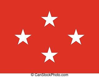 egyesült, lobogó, egyesült államok, alakulat, tengeri, általános, csillag, négy