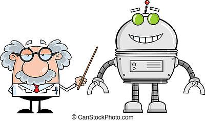 egyetemi tanár, robot, nagy