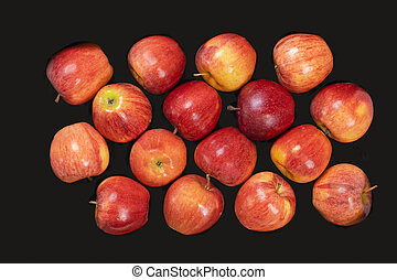 egyezség, látszó, evez, piros, ízletes, alma