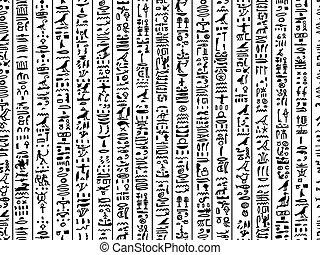 egyiptom, motívum, seamless, tervezés, hieroglyphs, -e