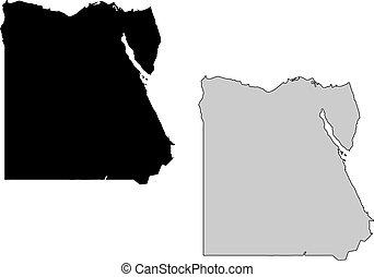 egyiptom, térkép