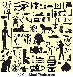 egyiptomi, jelkép, 1, állhatatos, cégtábla