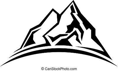 egyszerű, árnykép, hegy