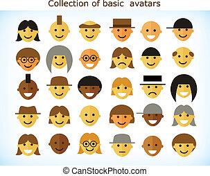 egyszerű, avatars