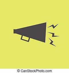 egyszerű, beszélő, hangos, ikon
